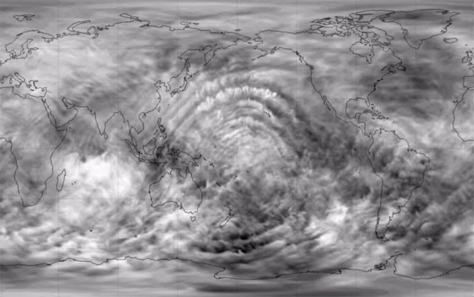 Watch gravity waves ripple through Earth's atmosphere