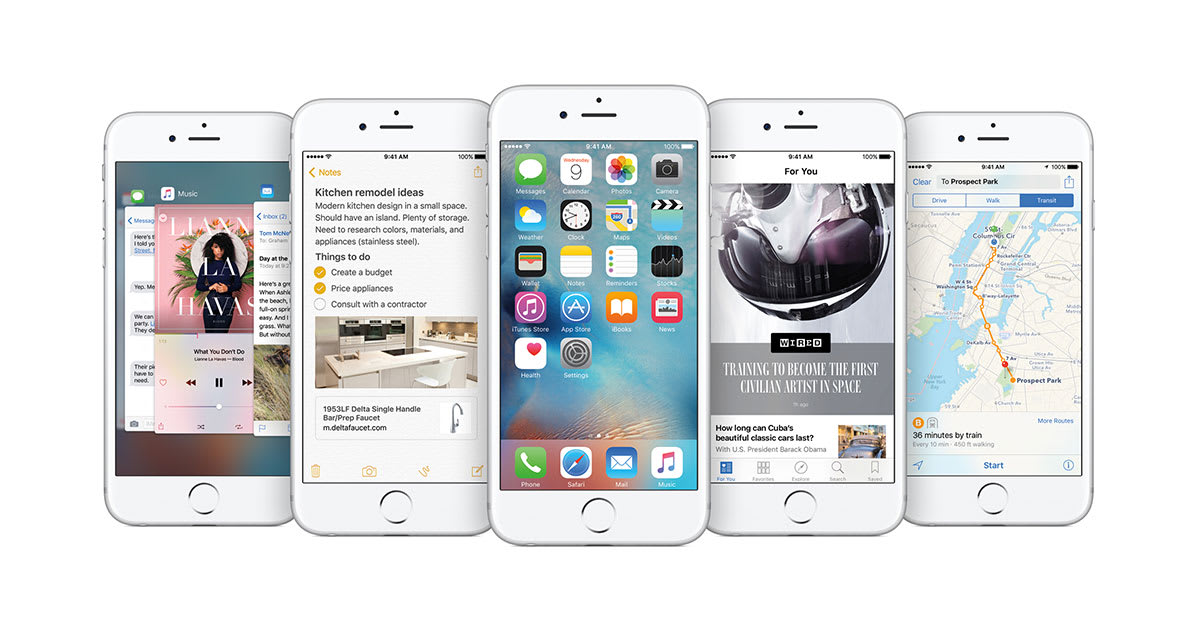iOS 9 will be available for iPhone, iPad and iPod Touch September 16th