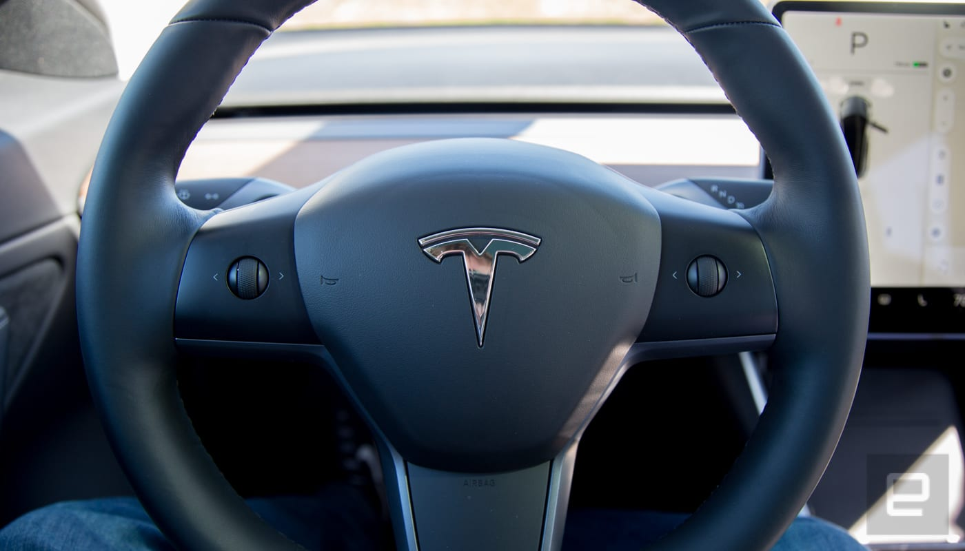 Tesla puts Model 3 Autopilot controls on the steering wheel