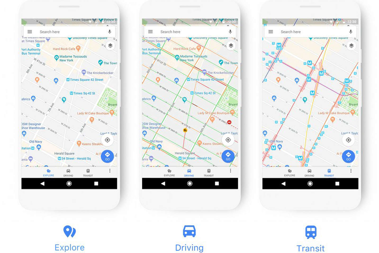 Google Maps' new look adapts to how you travel on hp google map, home depot google map, mobil home, mcdonalds google map, mobil logo,