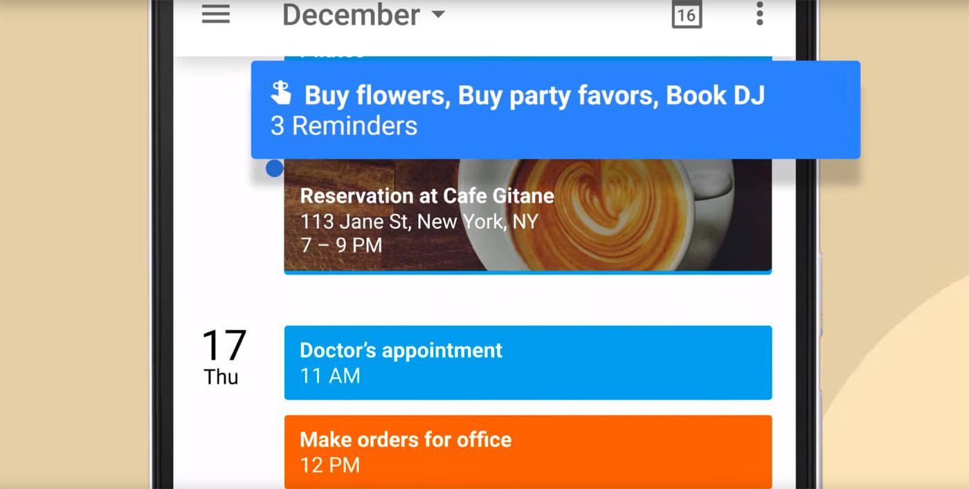 Google Calendar gets reminders to keep track of your tasks