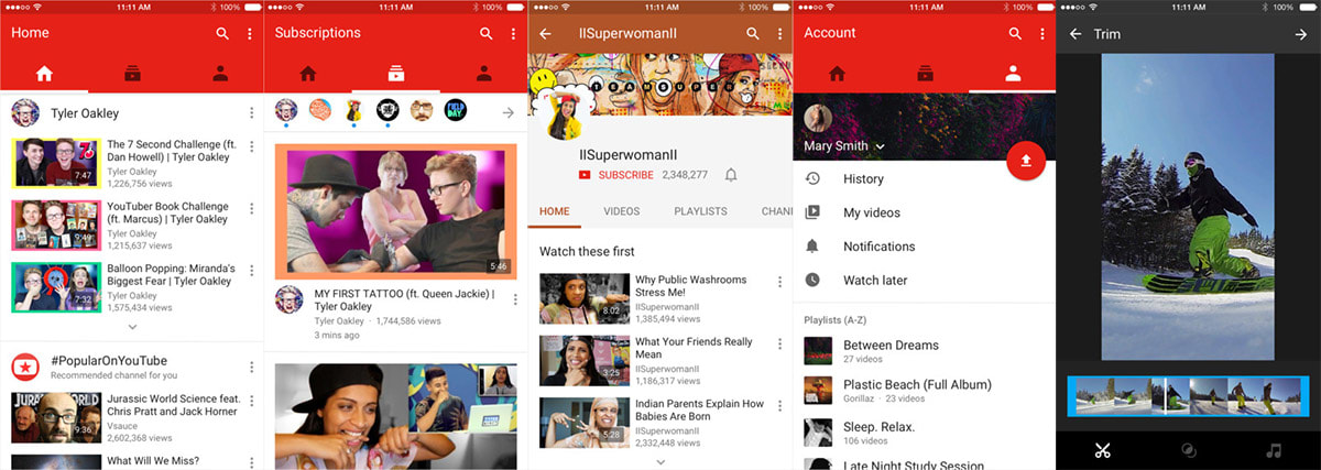 YouTube gives its iOS app a new look and in-app editing tools