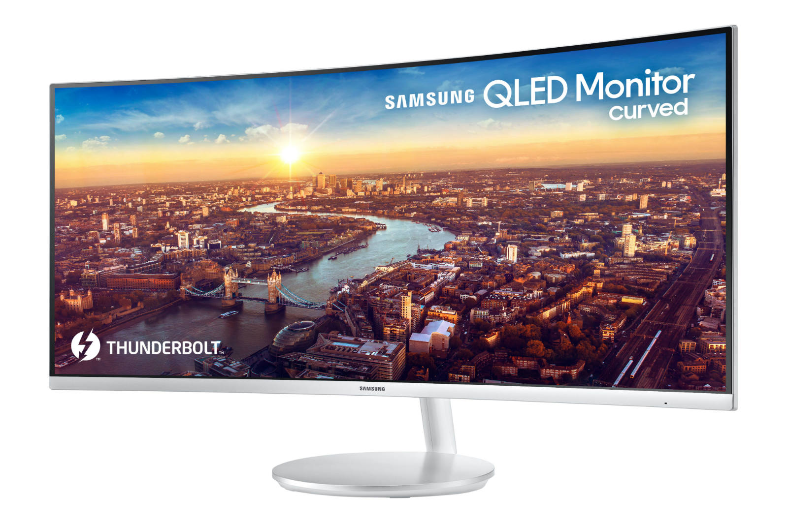 Samsung's latest curved QLED monitor packs Thunderbolt 3