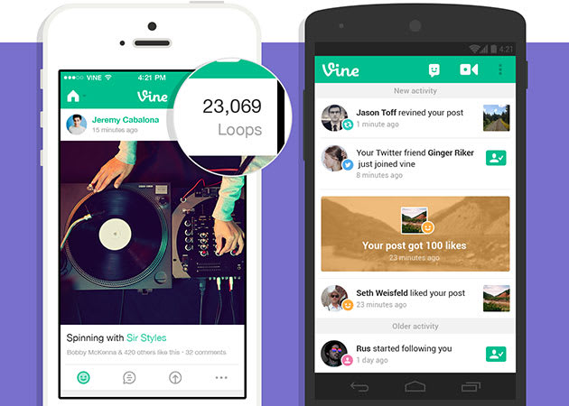 Vine's loop counts tally plays in six-second increments