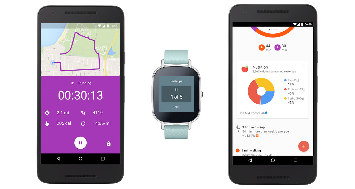 Google Fit gets real-time stats and grabs data from more