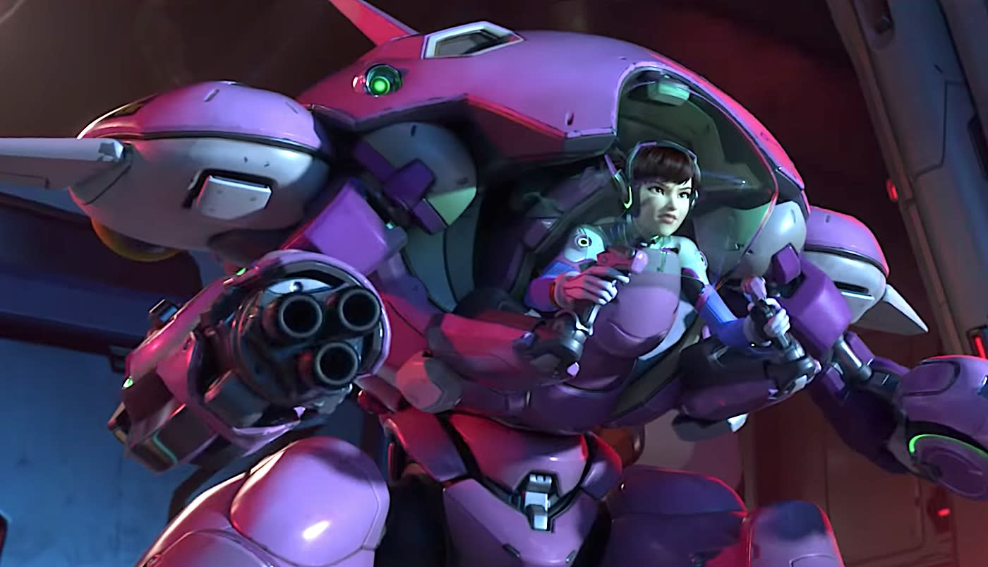 New 'Overwatch' map spotlights D Va and the MEKA Squad