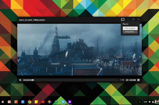 Chromebook-to-Chromecast video? Yes, with Google Drive