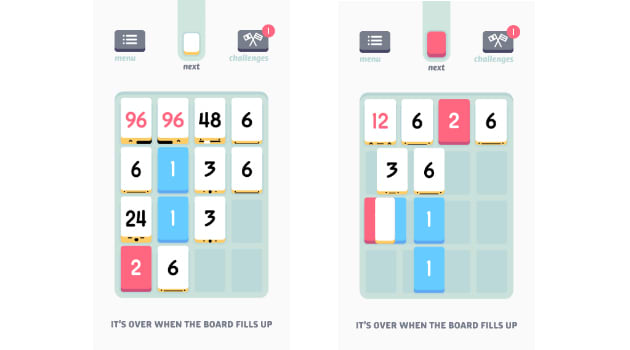 Threes mobile game graphics