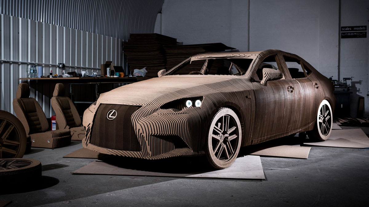 Lexus Electric Car >> Lexus Made A Working Electric Car Out Of Cardboard