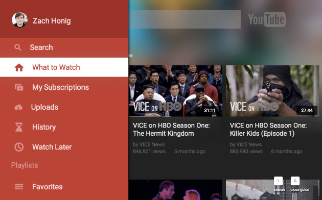 YouTube refreshes television app for set-top boxes, game
