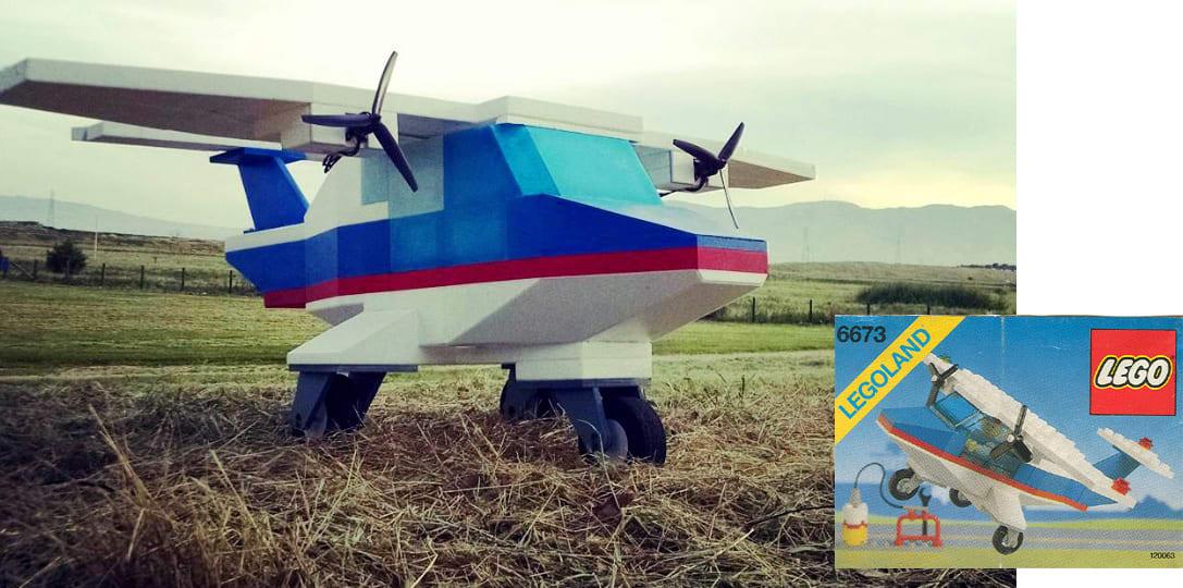 Lego Flugzeug Fliegt Wirklich Ist Aber Nicht Wirklich Aus Lego