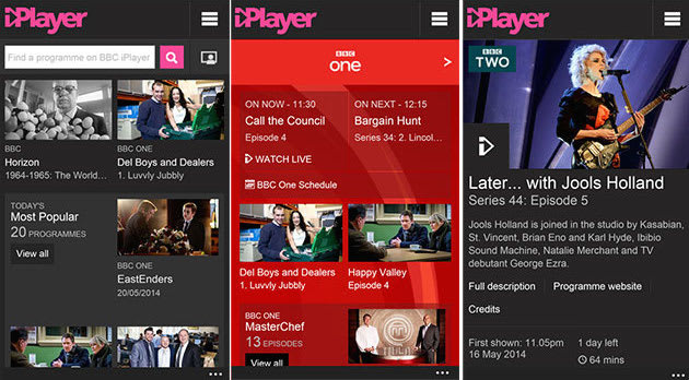 Revamped iPlayer app for Windows Phone adds live TV but