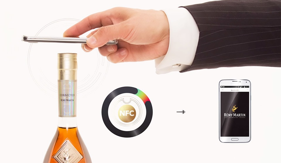Remy Martin thinks an NFC bottle cap is the key to authentic cognac
