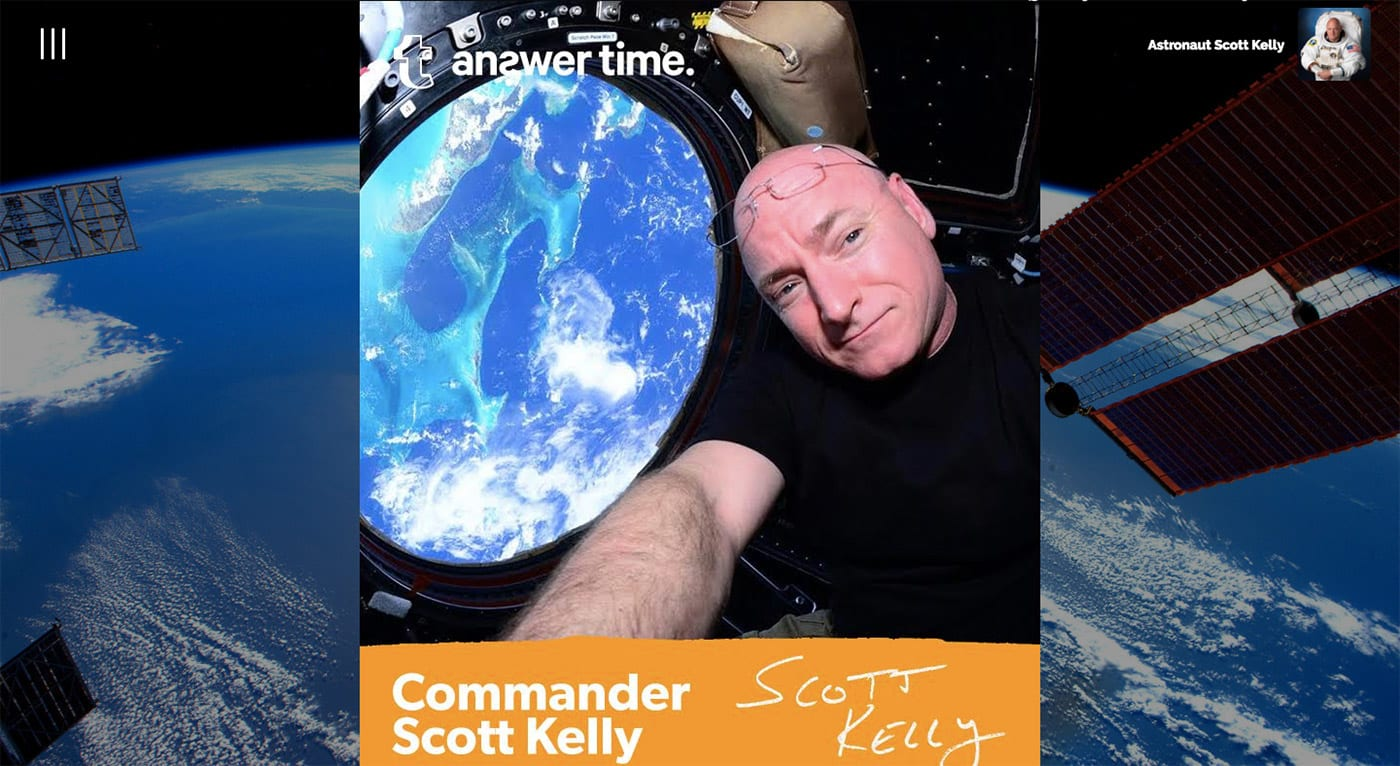astronaut answers questions in space - photo #20