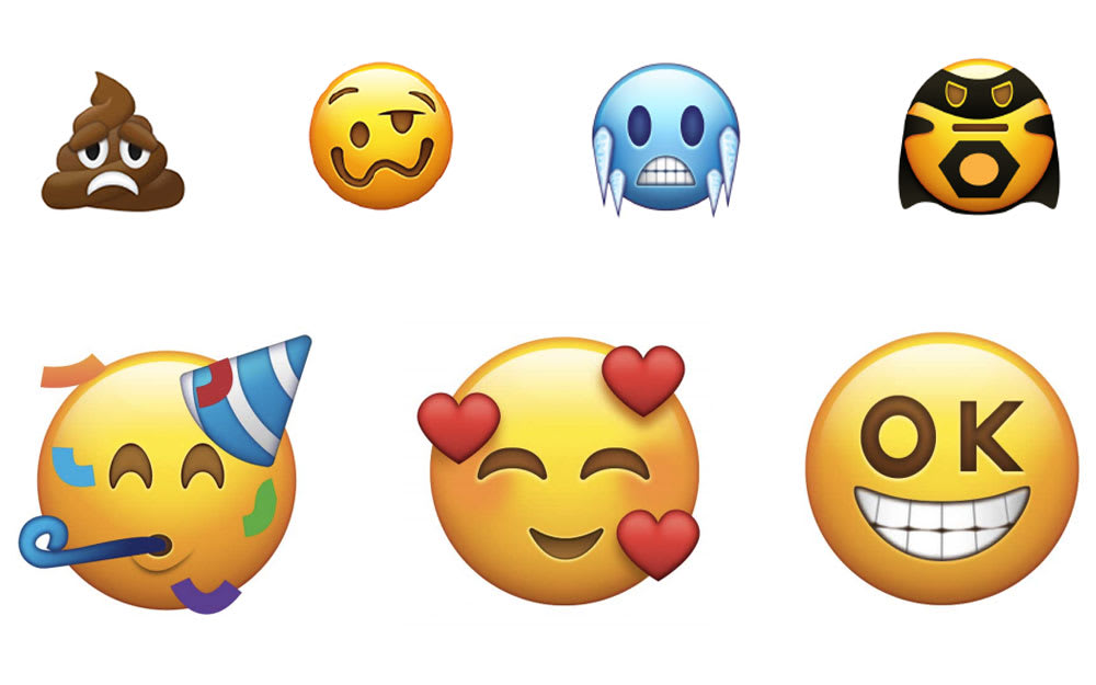 Proposed emojis include the drunk face and sad poo we've all