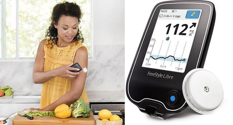 FDA OKs a blood sugar monitor that doesn't need fingerpricks