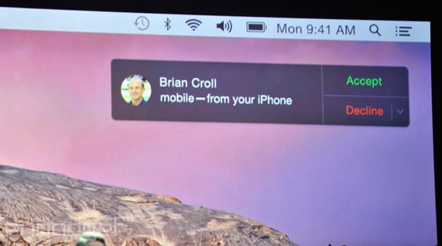 OS X Yosemite will let you answer calls to your iPhone from