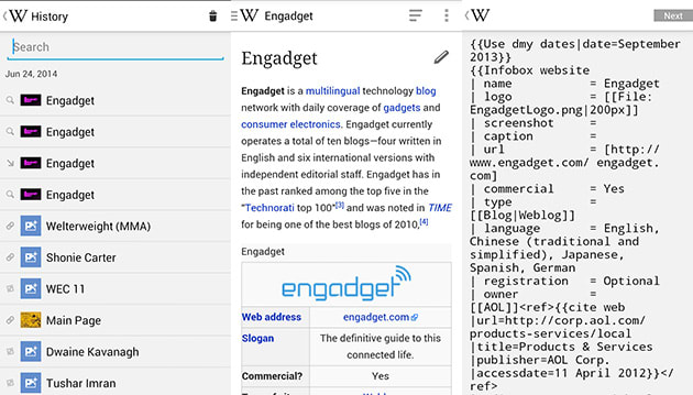You can now edit articles, view random pages on the Android