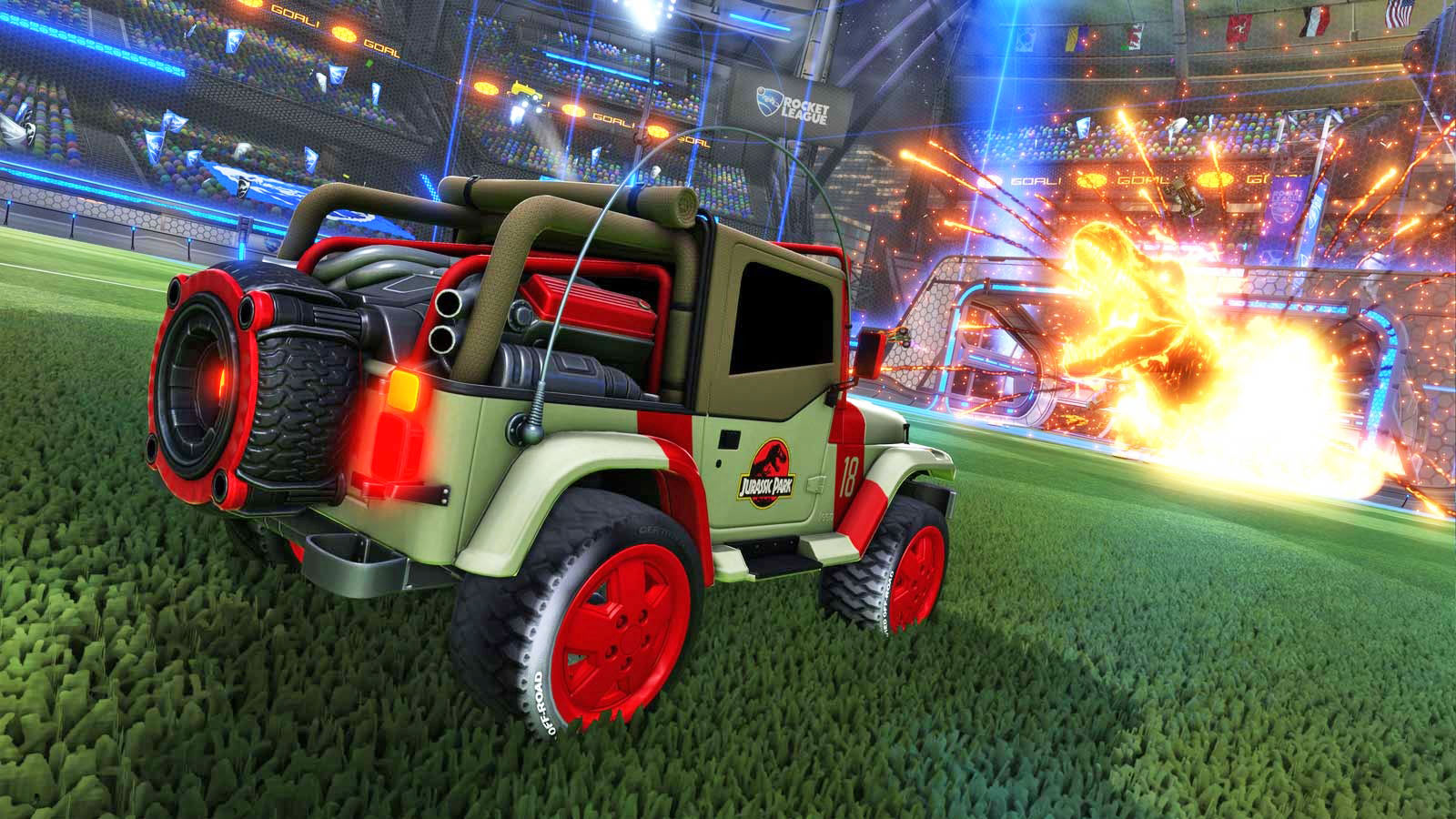 Rocket League's' next add-on is a 'Jurassic World' crossover