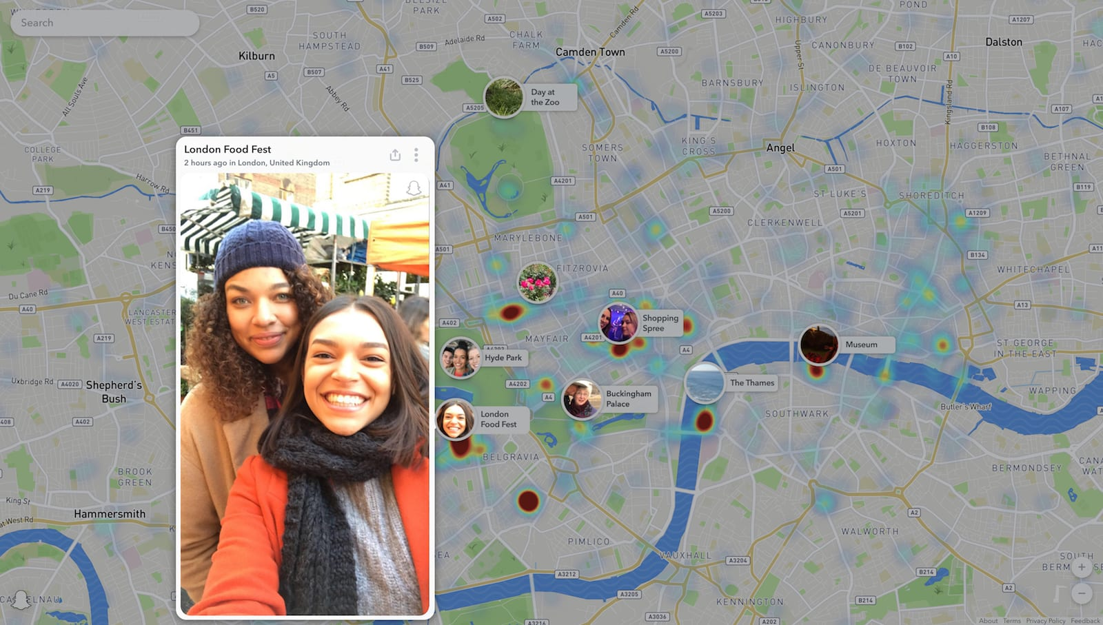 3d06777989 Snapchat brings Snap Map to the web