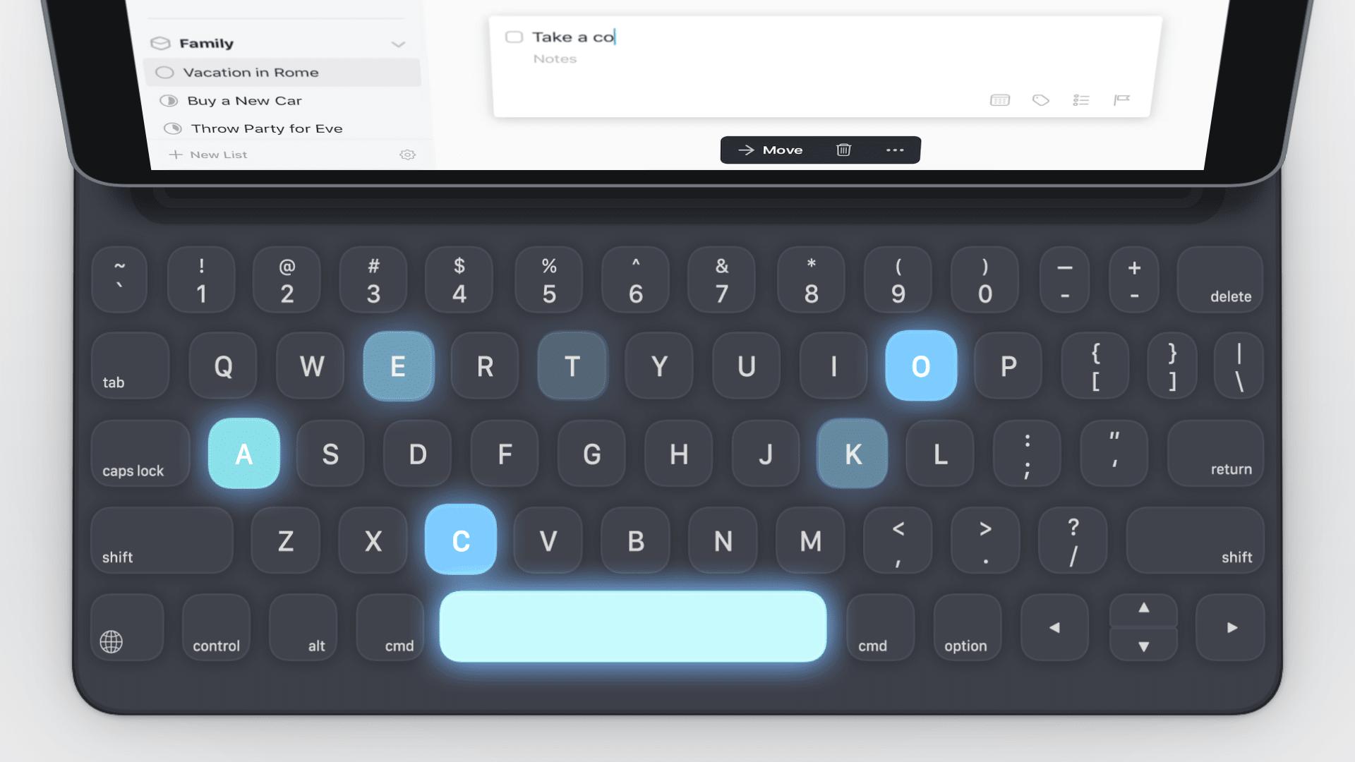 Things to-do app gets a big, keyboard-focused iPad update