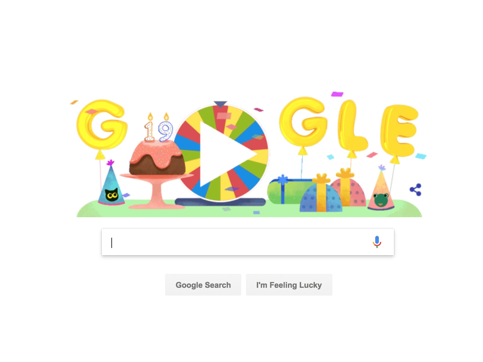 Google Unwraps 19 Past Doodle Games For Its 19th Birthday