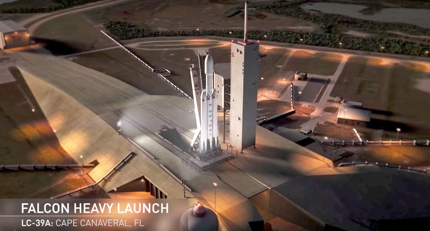 SpaceX's first Falcon Heavy will carry Musk's Tesla Roadster