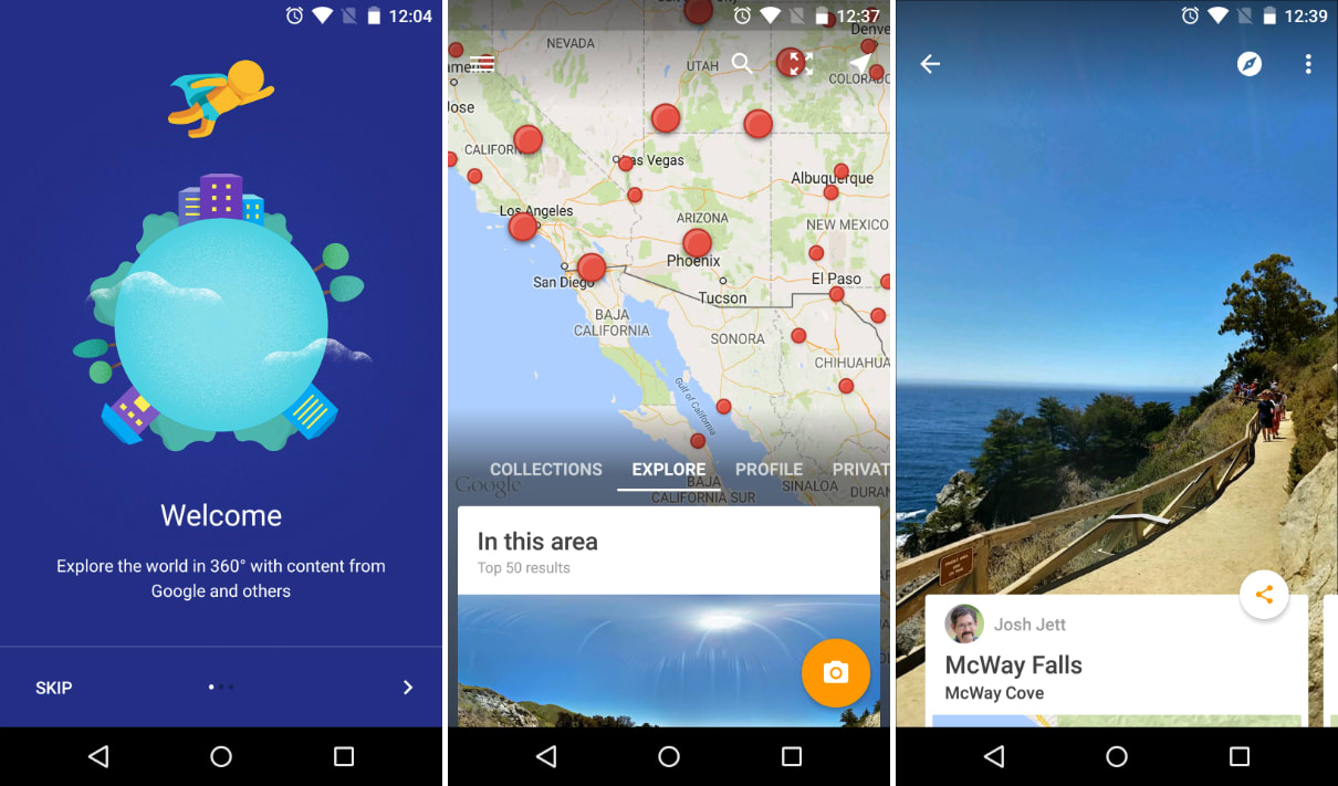 Google\'s new Street View app lets you add your own spherical photos
