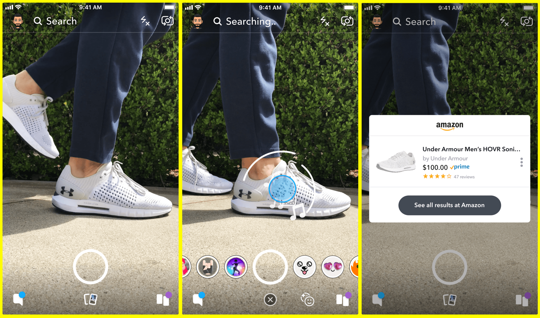 20c87f13f6a82 Snapchat will let you shop on Amazon using its camera