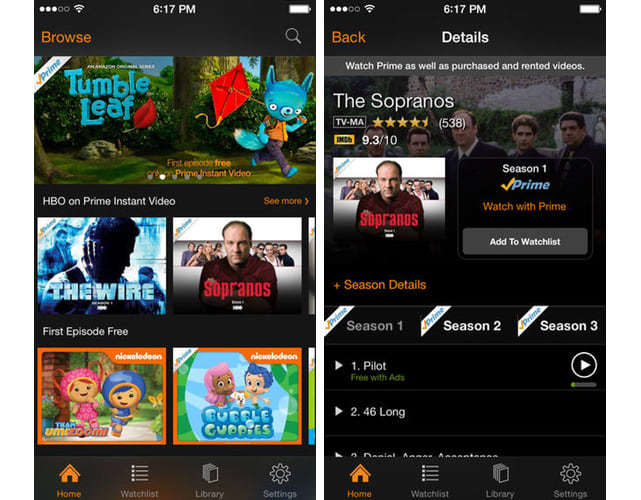 1ee7cf5ed1e7 Amazon Instant Video app now offers free, ad-supported TV episodes ...