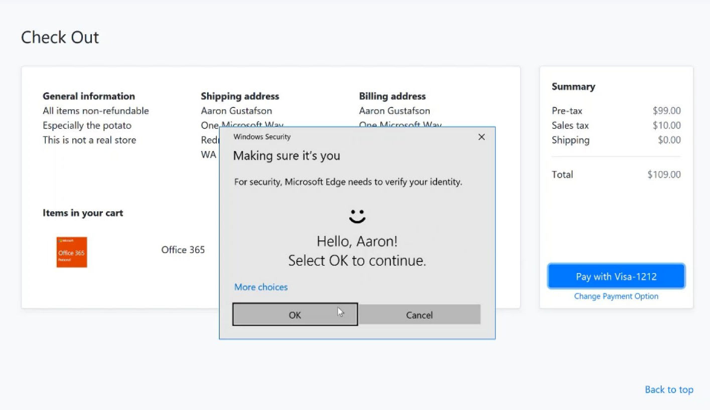 Microsoft Edge now supports passwordless sign-ins
