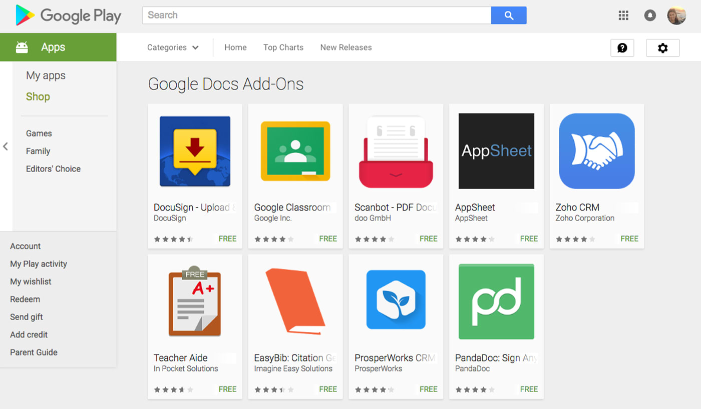 Google announces add-ons for Docs and Sheets' mobile apps