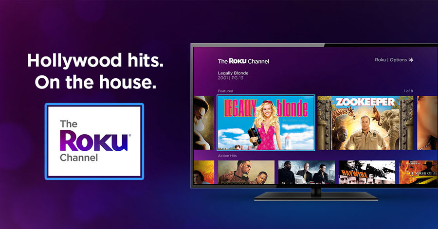 roku s free ad supported movie channel is available for everyone