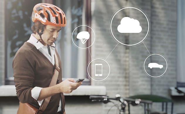 Volvo's bike helmet concept alerts riders and drivers to