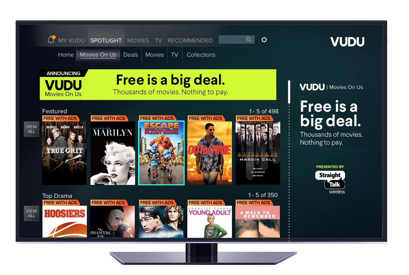Vudu offers ad-supported movies 'on us'