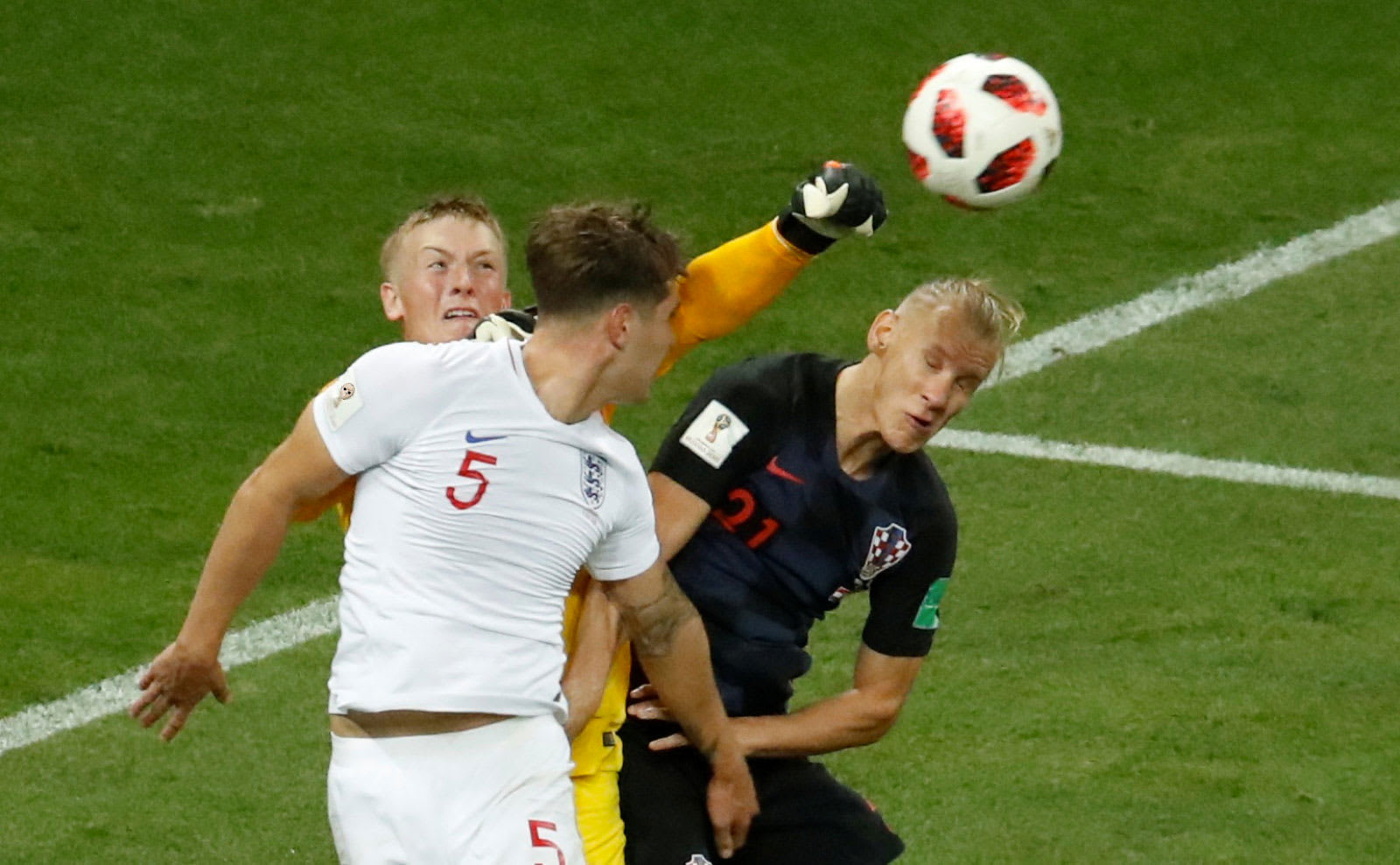 a78ad493b Christian Hartmann   Reuters. In the middle of Wednesday s World Cup  semifinal match between England and Croatia
