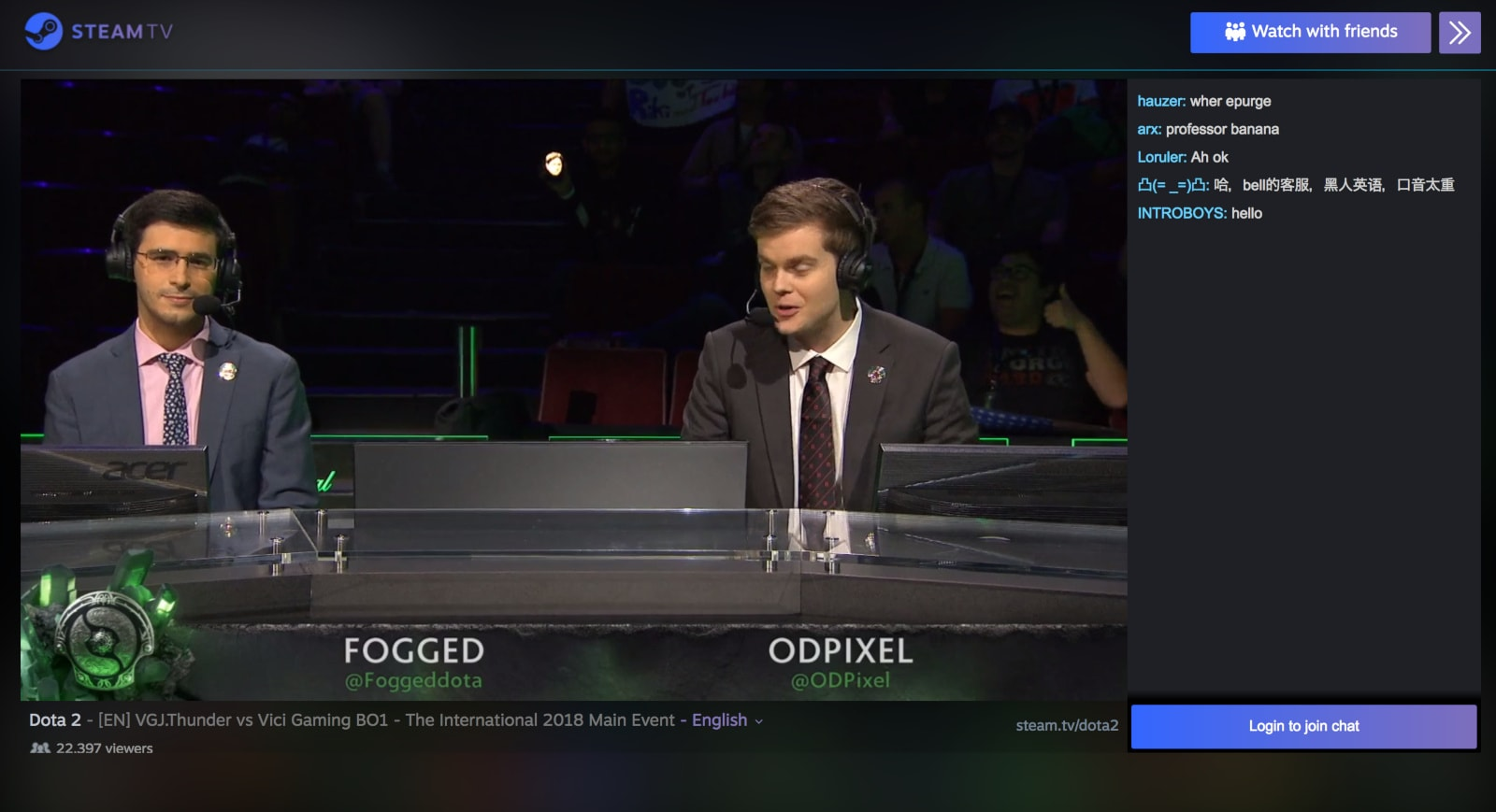 Steam TV goes live again to stream 'Dota 2' tournament