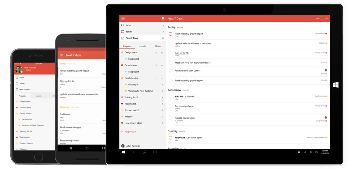 Todoist is bringing its popular productivity app to Windows 10