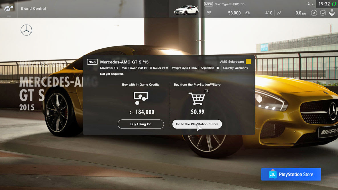 Gran Turismo Sport Update Lets You Pay Real Money For Cars