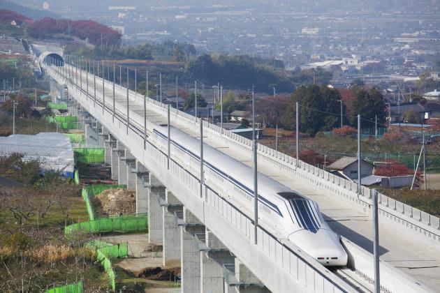 El tren de levitación magnética de Japón alcanza los 589 Km/h