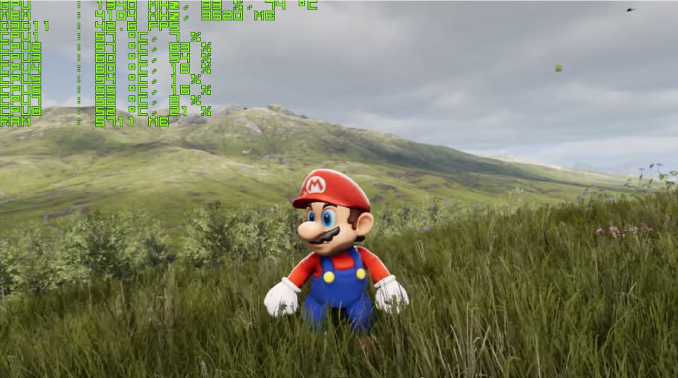 Mario and Sonic look absolutely stunning in Unreal Engine 4