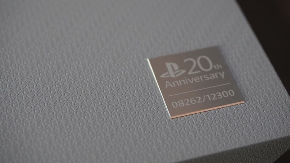 unboxed sony s 20th anniversary edition playstation 4 is gorgeous