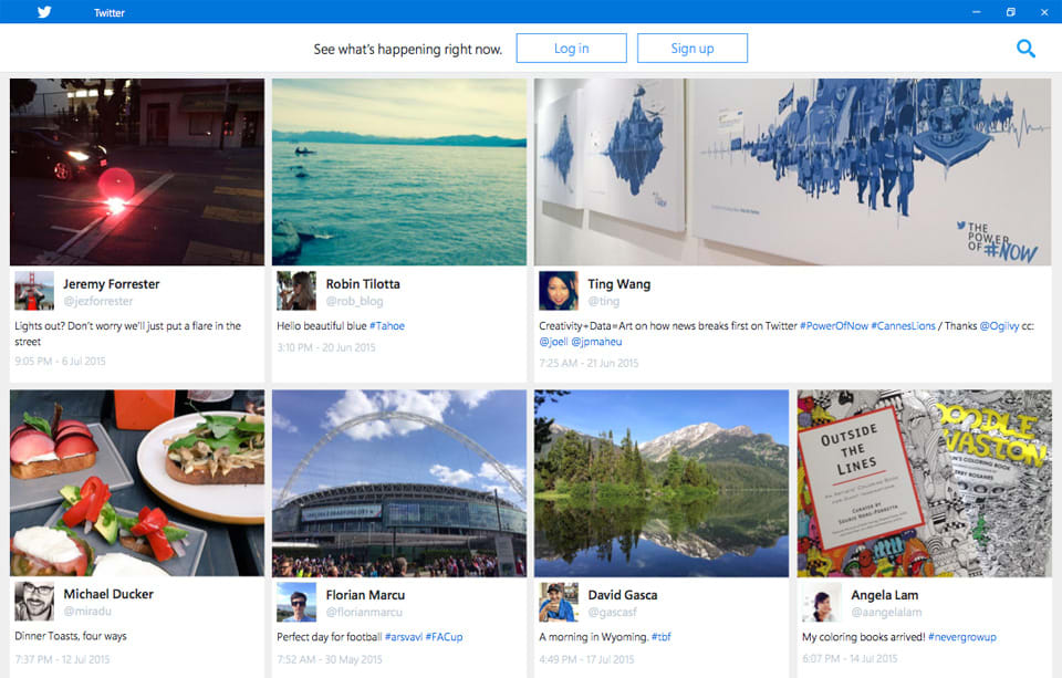 Twitter's Windows 10 app shows you top tweets right from the start