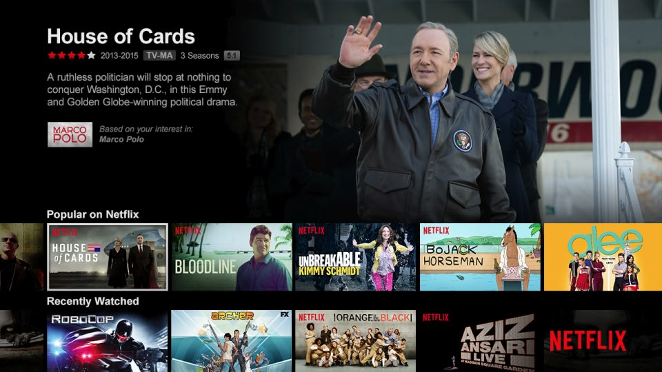 Netflix's TV apps get their first major update since 2013