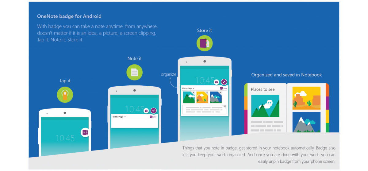 Microsoft OneNote gets instant access on Android, 3D Touch on iOS