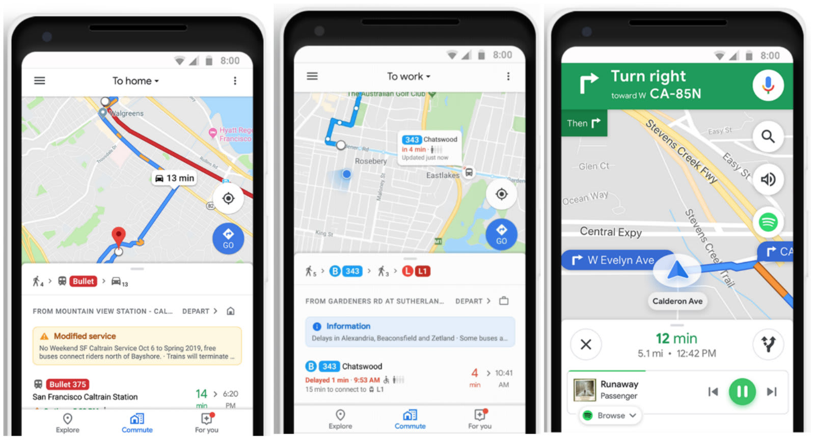 Google Maps' new commute tab plans every leg of your journey