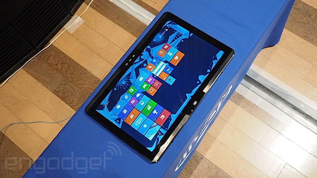 Intel's reinvention of the all-in-one PC is slim, portable and still huge