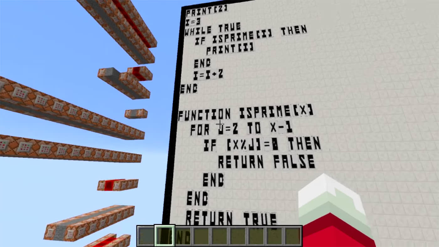 Minecraft' fan finds a way to program BASIC code in-game