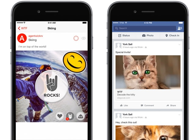 Self-destructing chat app Wickr uses cat pics to hide photos in