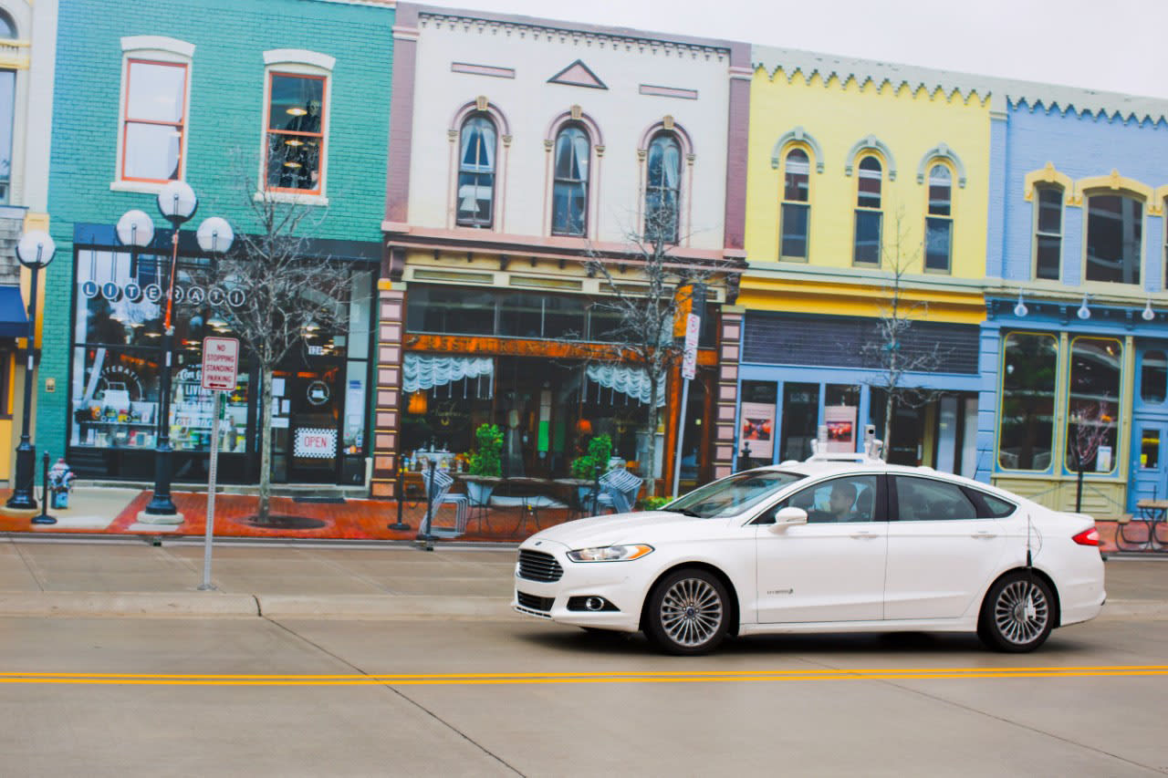 Ford first to test self-driving cars in Michigan's fake city